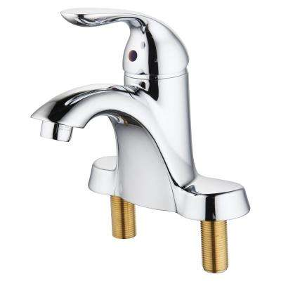 Moldavite 4 in. Centerset Single Handle Bathroom Faucet with Pop-Up Drain in Chrome