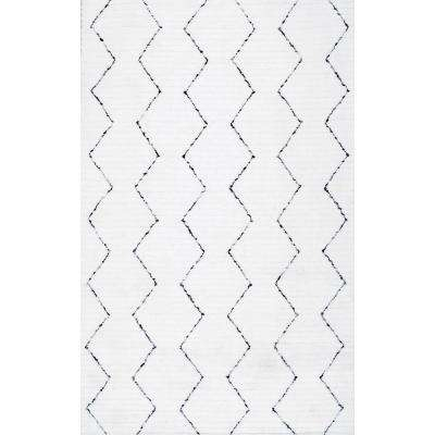 Sheilah White 6 ft. x 9 ft. Area Rug