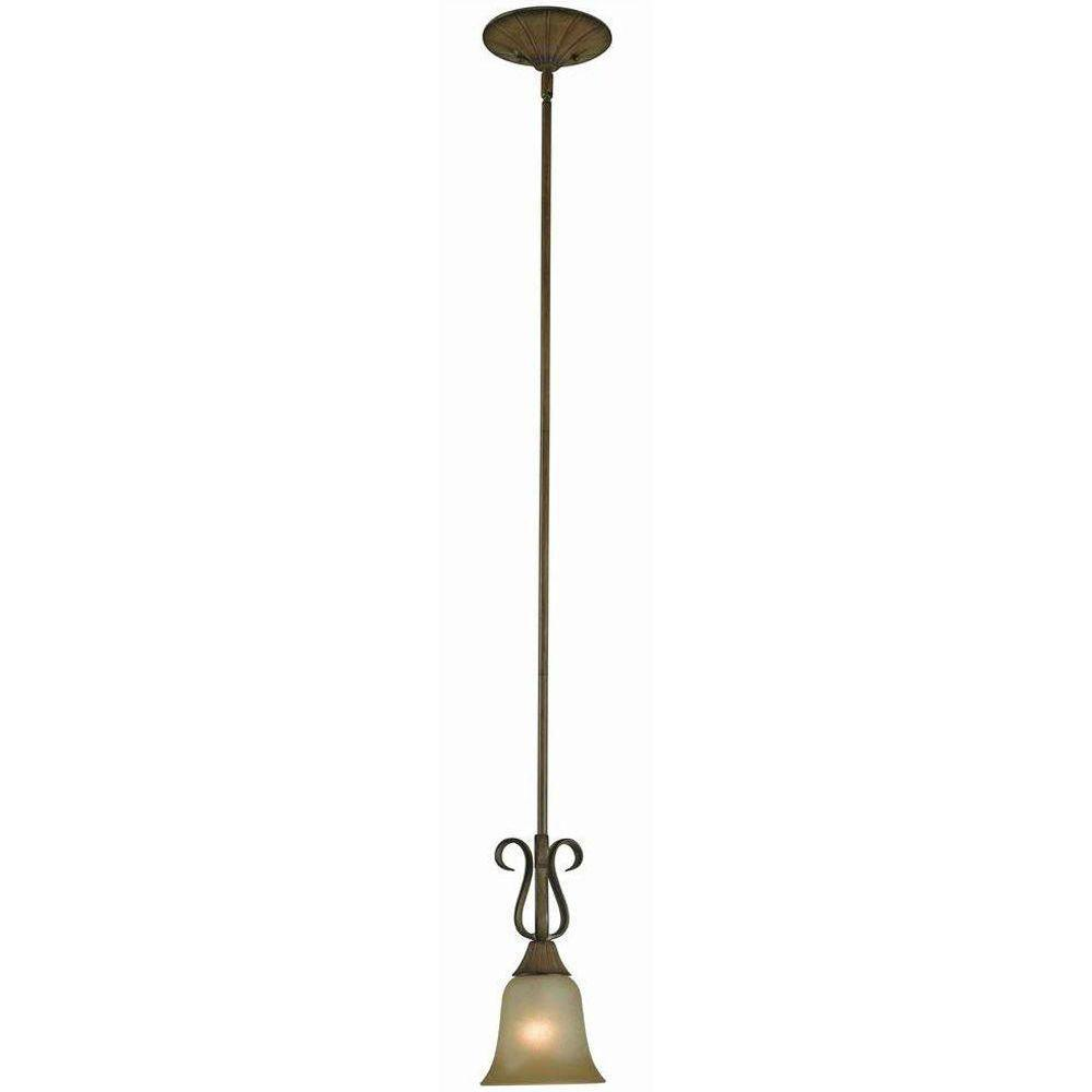 Hampton bay pendant lights lighting the home depot chester 1 light aruba teak mini pendant aloadofball