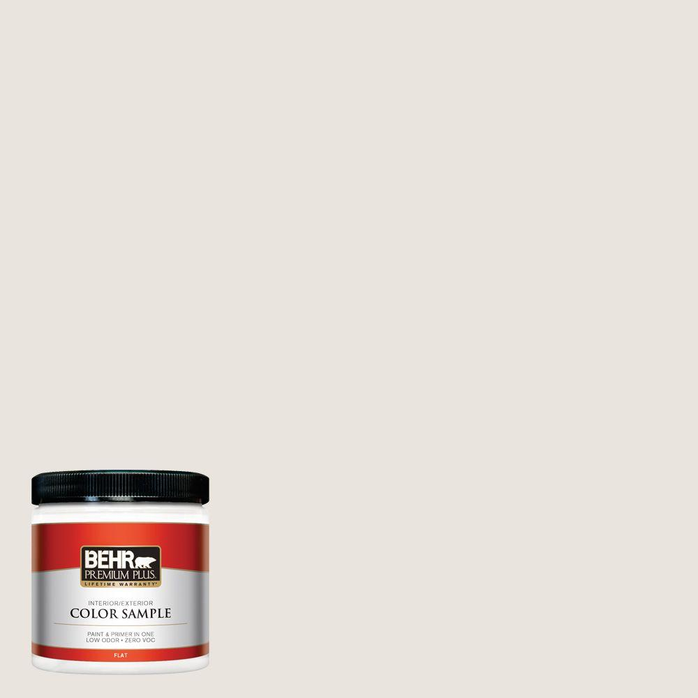 BEHR Premium Plus 8 oz. #BWC-13 Smoky White Interior/Exterior Paint Sample