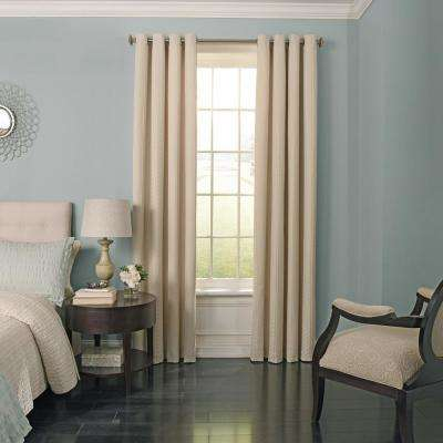 Malbrouk 108 in. L Polyester Curtain in Ivory