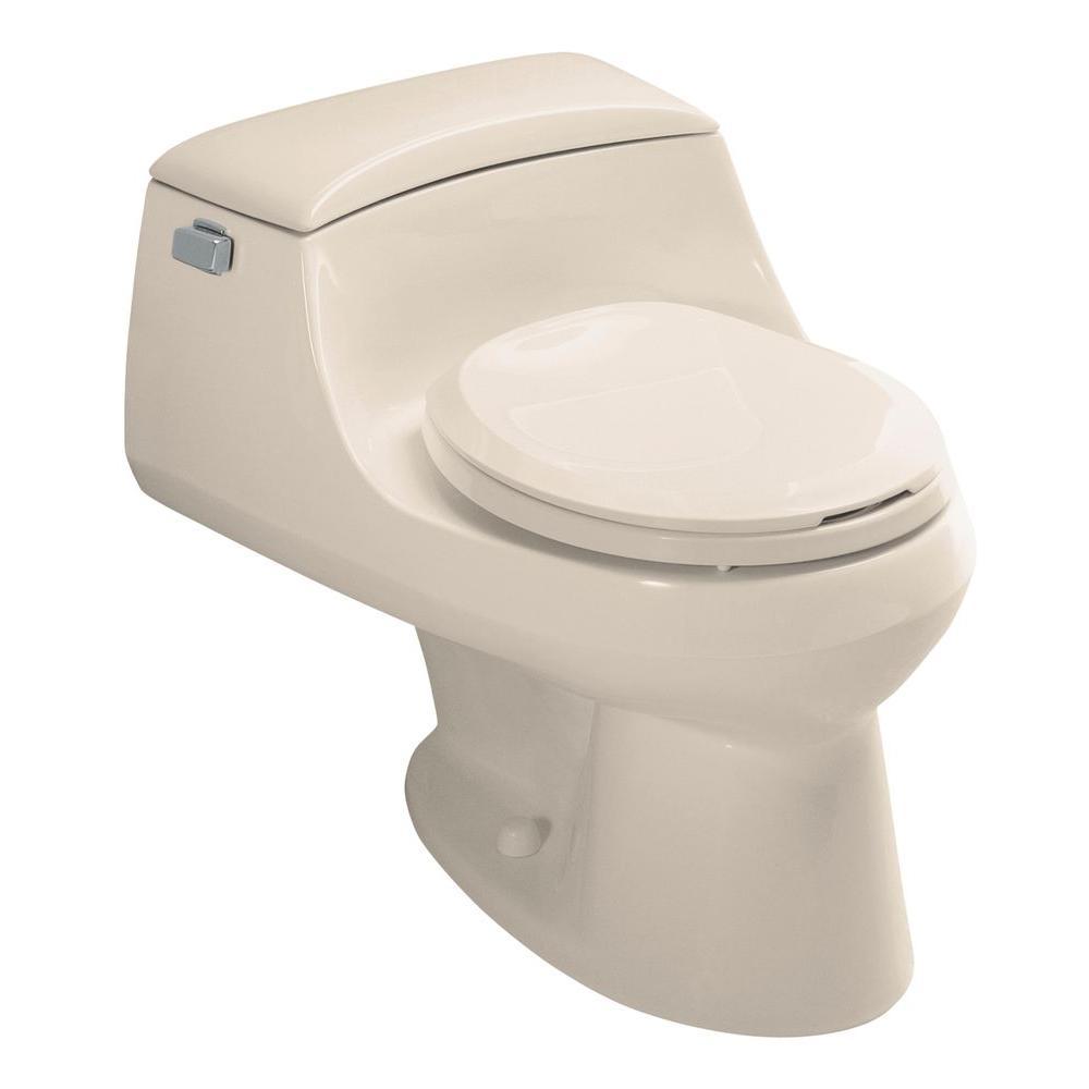 KOHLER San Raphael 1-Piece 1.6 GPF Round Toilet in Innocent Blush-DISCONTINUED