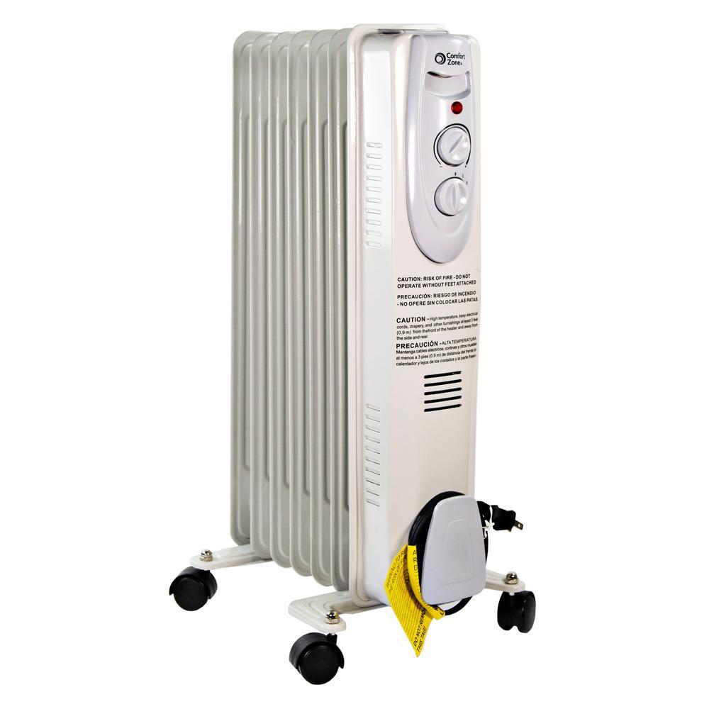 1200-Watt Electric Oil-Filled Radiant Portable Heater