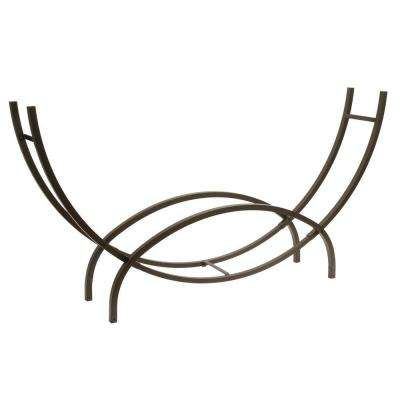 97 in. Black Crescent Log Rack