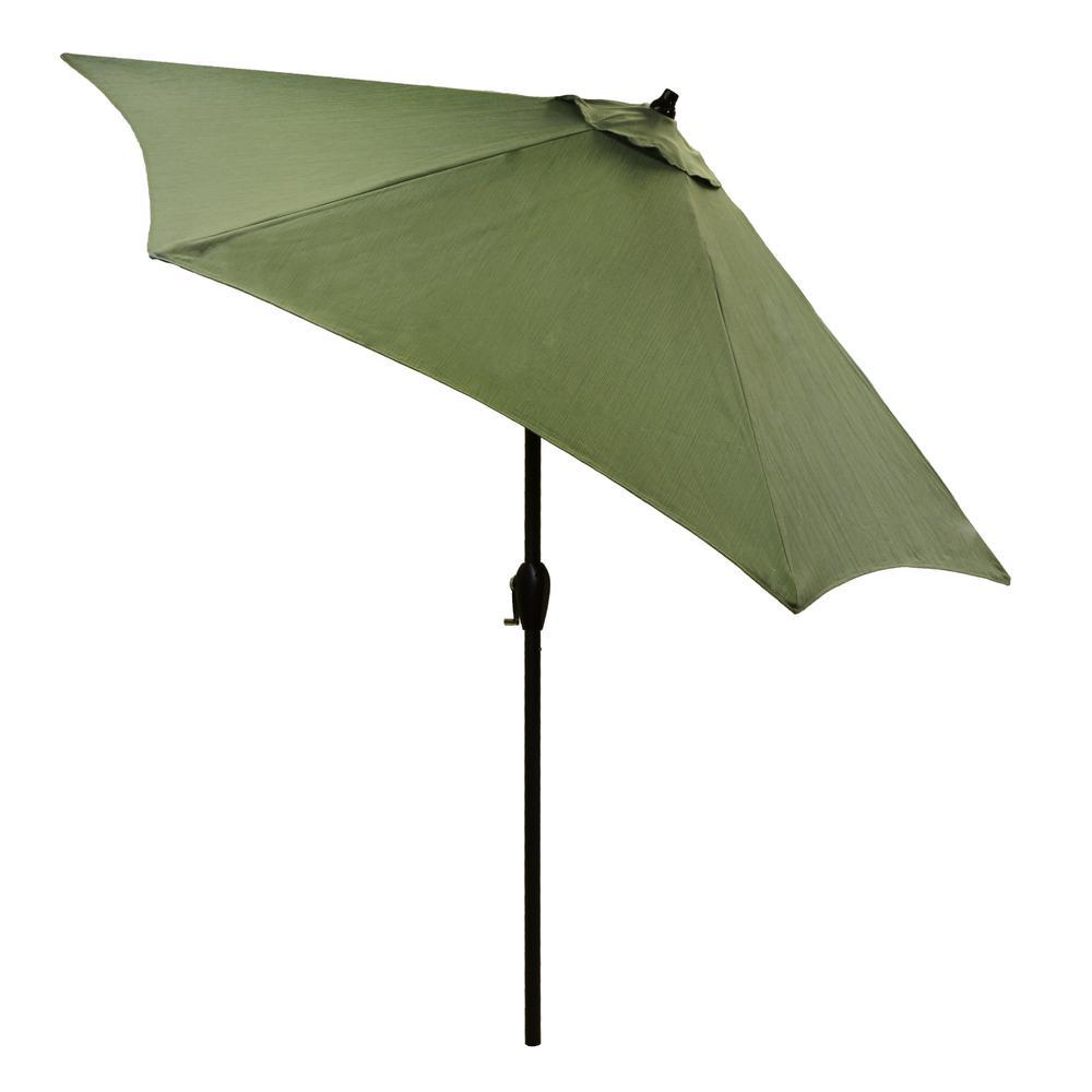 9 ft. Aluminum Patio Umbrella in Surplus with Tilt