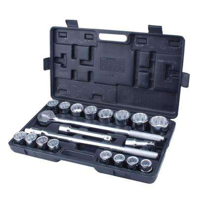 3/4 in. Heavy Duty Steel Jumbo Socket Set with Case (21-Piece)
