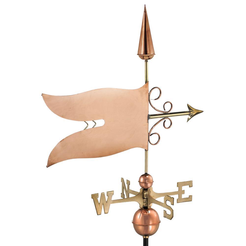 Banner Weathervane - Pure Copper