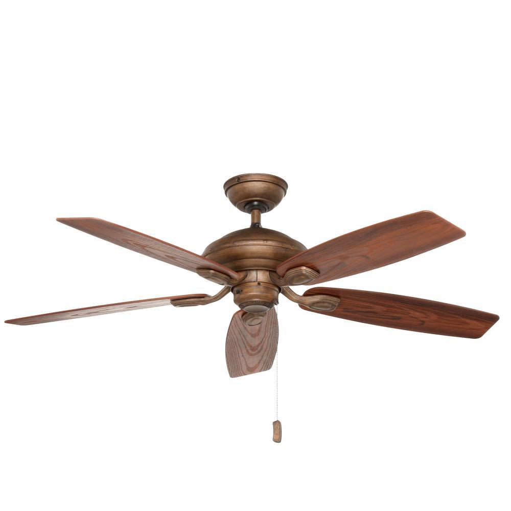 Utopian 52 in. Indoor/Outdoor Aged Bronze Ceiling Fan