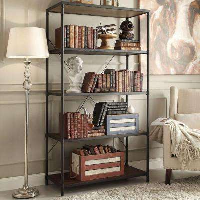 Addison Black Open Bookcase