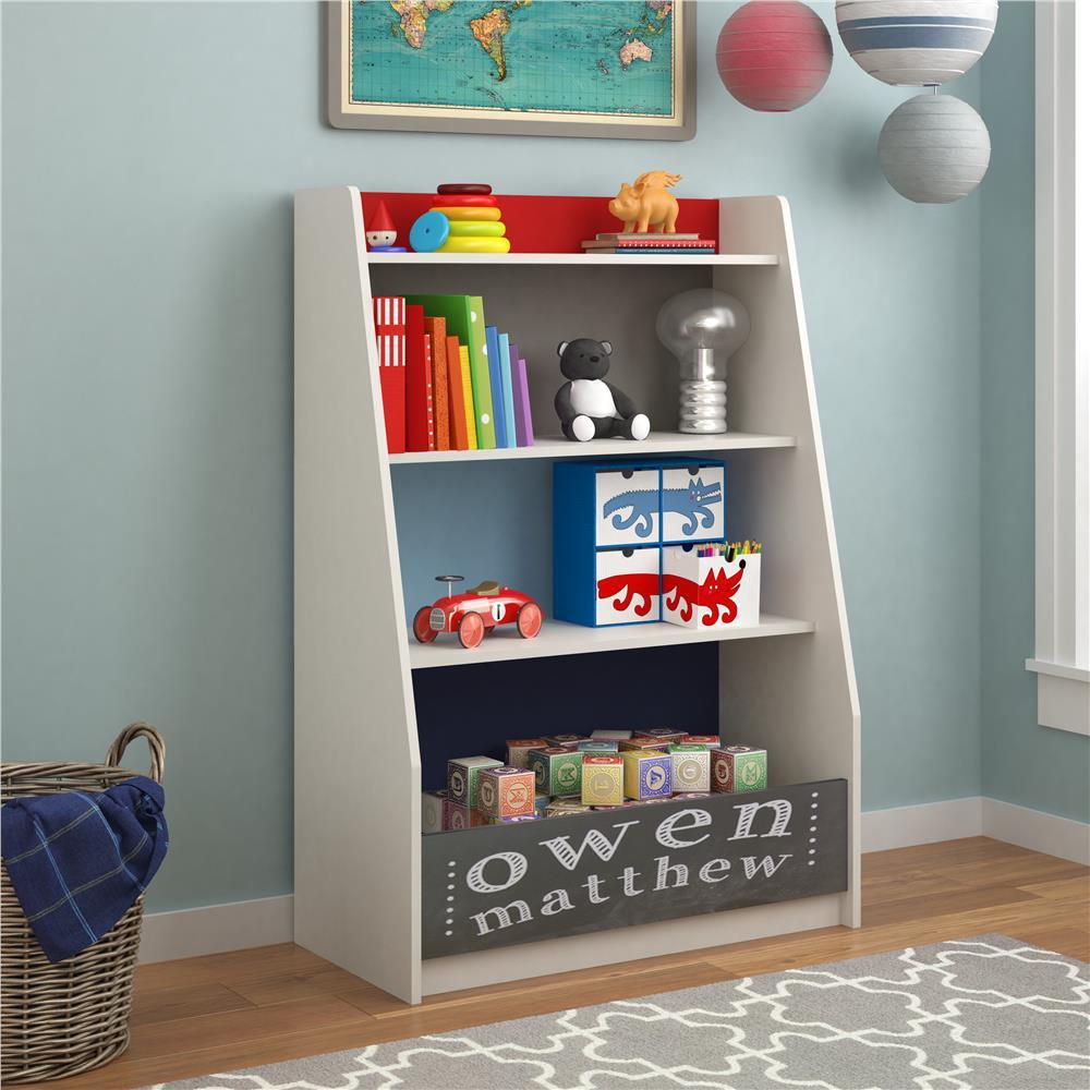 Kid Bedroom Furniture. Kaleidoscope Grey Blue Red Storage Kids Bookcase Bookcases  Bedroom Furniture The Home Depot