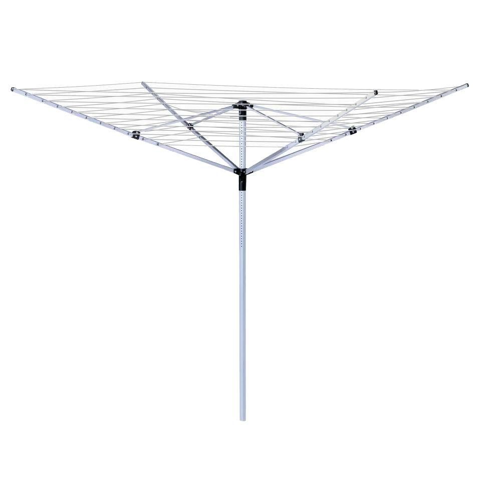 Honey-Can-Do 80 in. H x 78 in. W White Umbrella Drying Rack