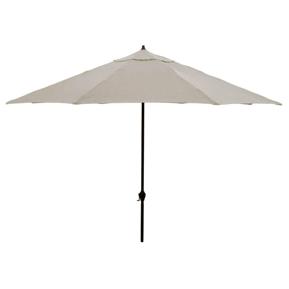 Hampton Bay 11 Ft. Aluminum Patio Umbrella In Gray
