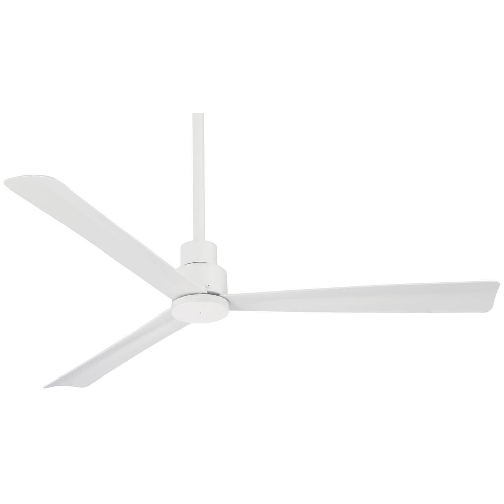 Minka-Aire Simple 52 in. Indoor/Outdoor Flat White Ceiling Fan with Remote Control