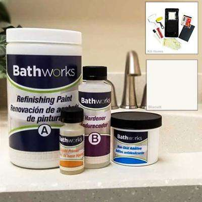 22 oz. DIY Bathtub Refinishing Kit with Slip Guard in Biscuit