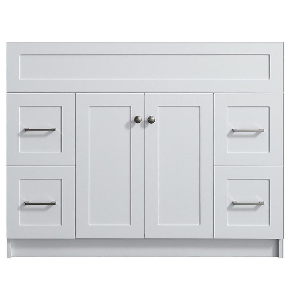 Hamlet 42 in. W x 21.5 in. D x 33.5 in. H Bath Vanity Cabinet Only in White