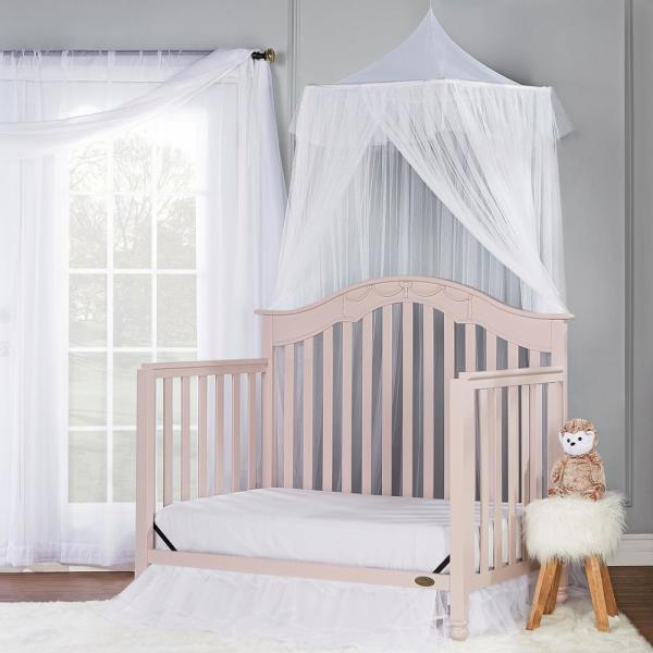 Blush Pink Dream On Me Charlotte 5-In-1 Convertible Crib