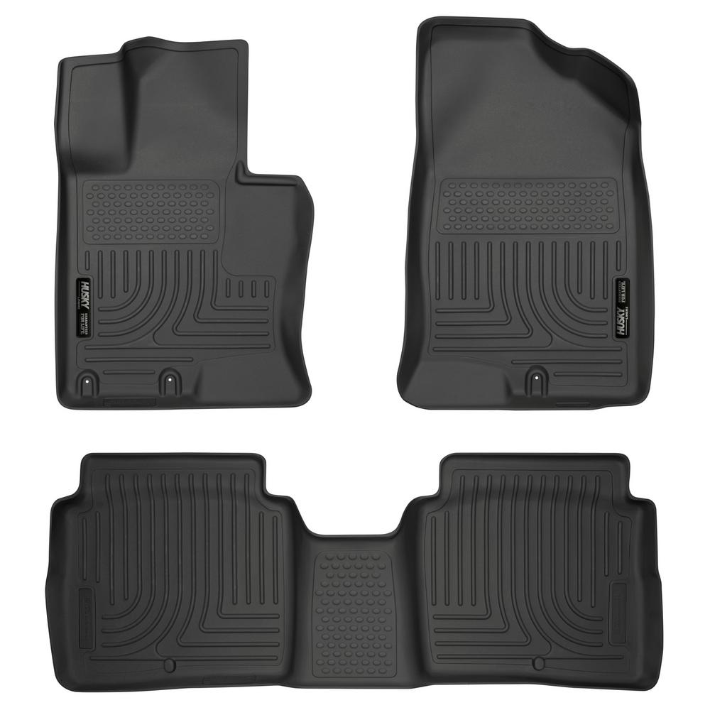 Husky Liners Front Amp 2nd Seat Floor Liners Footwell