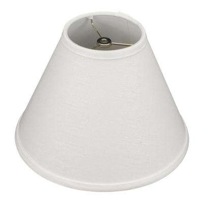 Fenchel Shades 12 in. Width x 8.25 in. Height Designer White/Nickel Empire Lamp Shade
