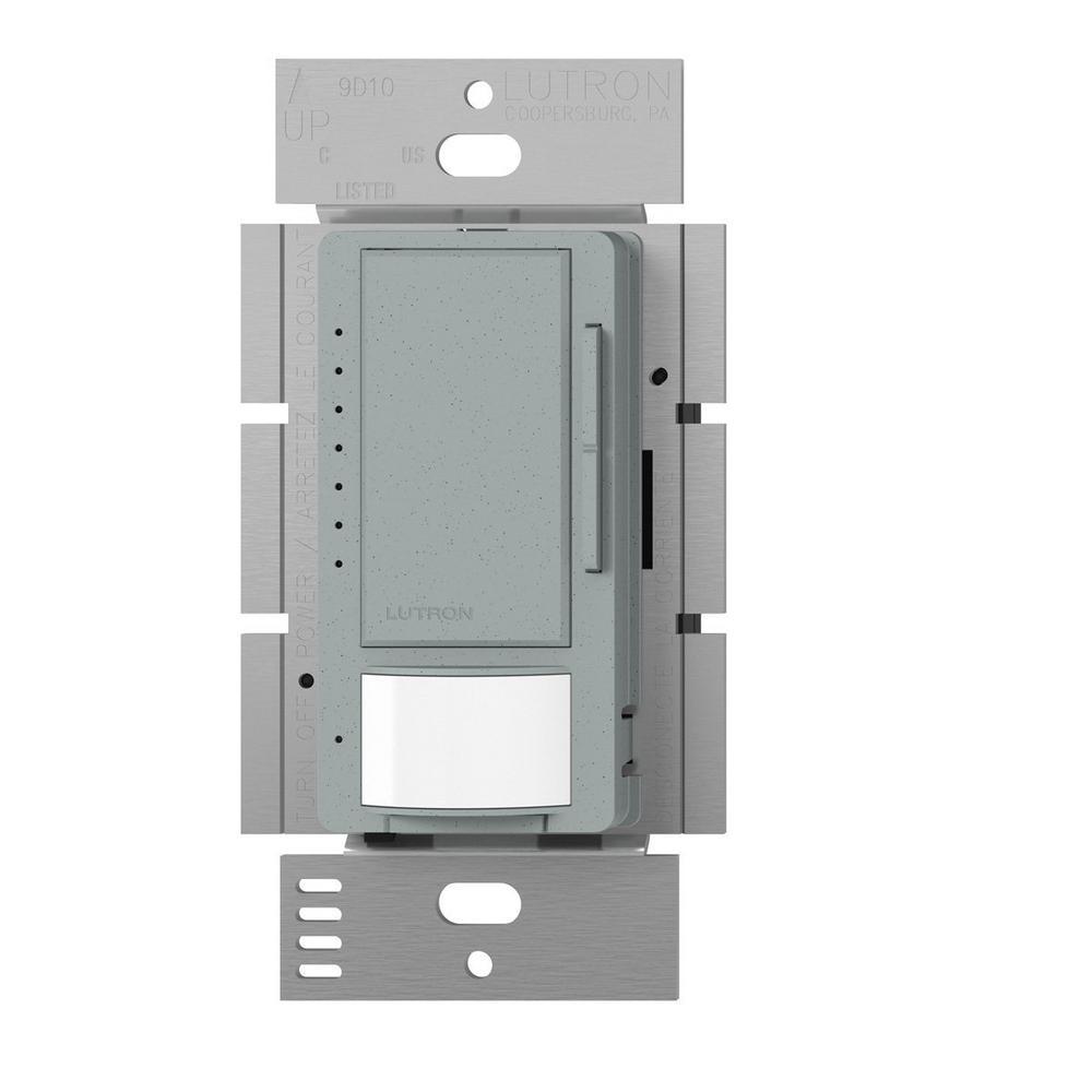 Maestro C.L Dimmer and Vacancy Motion Sensor, Single Pole and Multi-Location, Bluestone