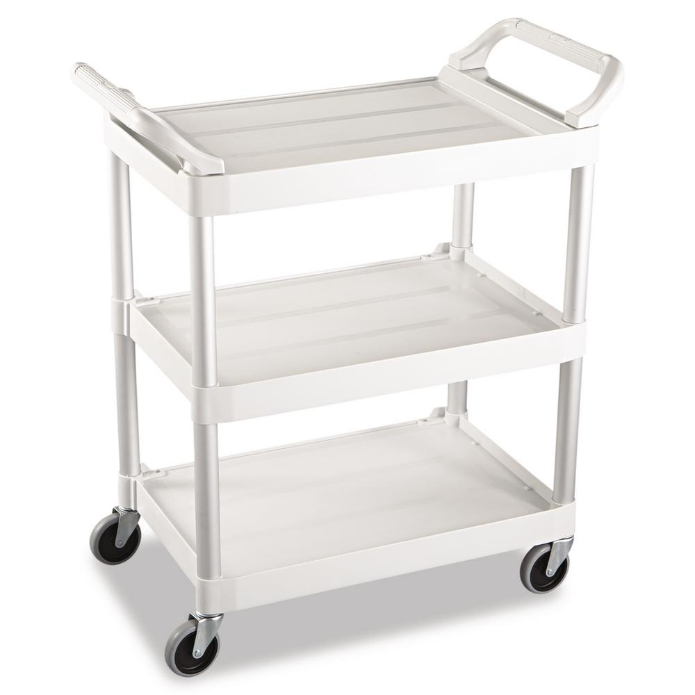 Utility Cart with 4 in. Swivel Casters in Off White, Beige