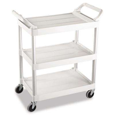 Utility Cart with 4 in. Swivel Casters in Off White