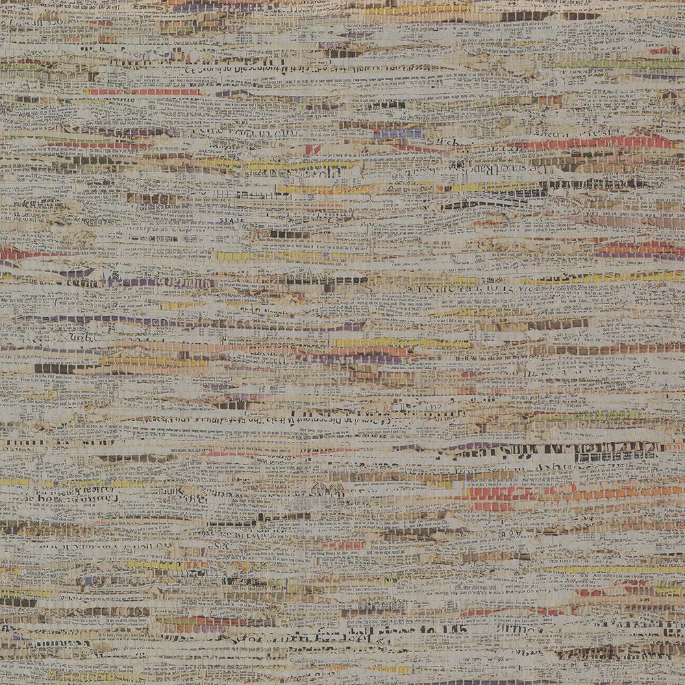 Brewster Clip Silver Newspaper Print Wallpaper Sample 2704-22685SAM