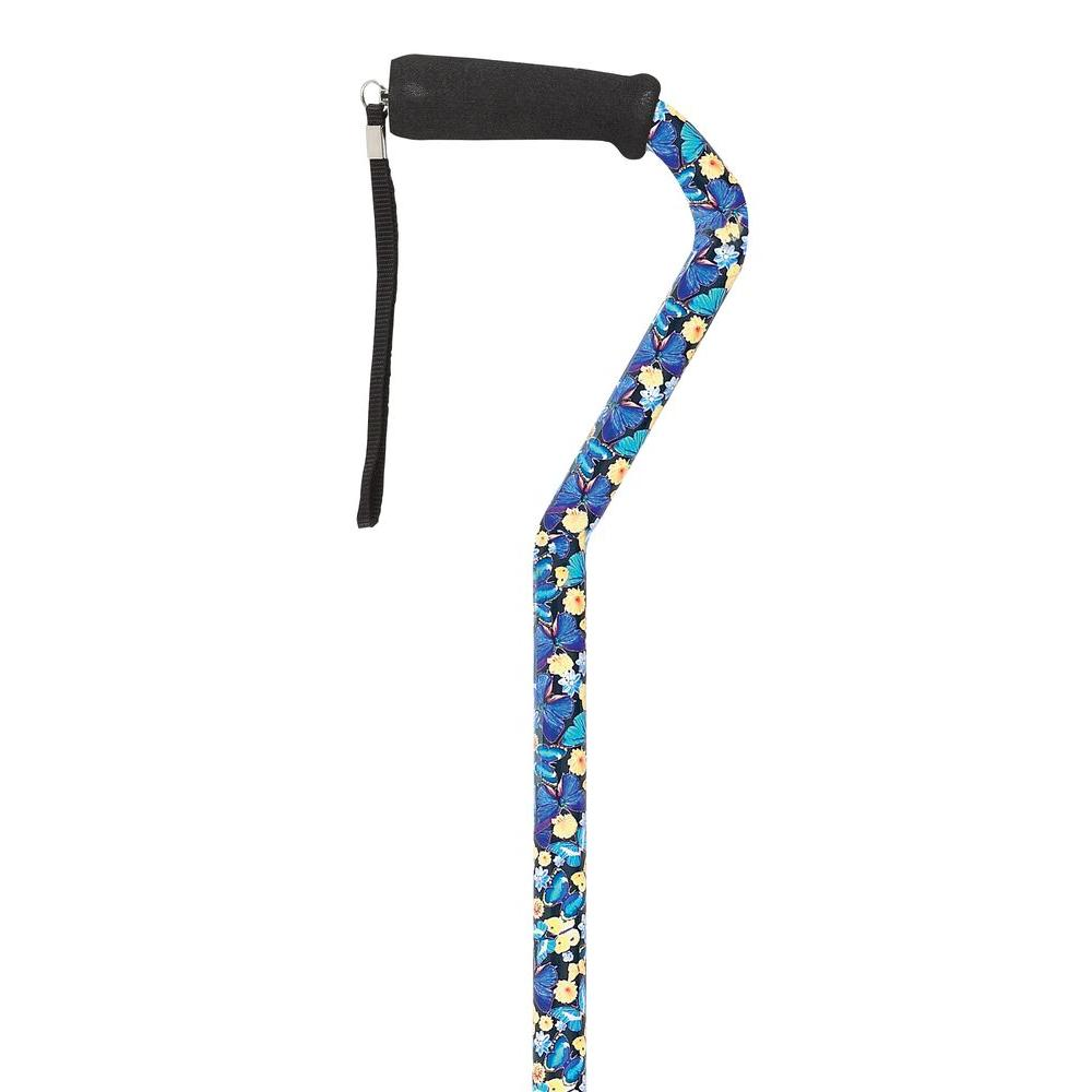 null Offset Black Butterfly Pattern Fashion Cane