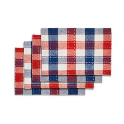 Americana Plaid Red 100% Cotton Placemat (Set of 4)