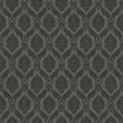 56 sq. ft. Tailored Peacock Damask Wallpaper