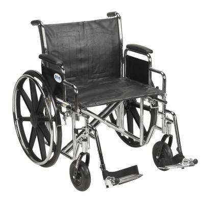 Sentra EC Heavy Duty Wheelchair with Desk Arms, Swing Away Footrest and 24 in. Seat