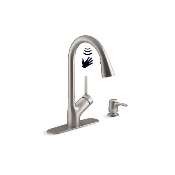 Setra Single-Handle Touchless Pull-Down Sprayer Kitchen Faucet in Vibrant Stainless