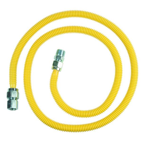 ProCoat 3/4 in. MIP x 1/2 in. FIP x 72 in. Stainless Steel Gas Connector 5/8 in. O.D. (86,000 BTU)
