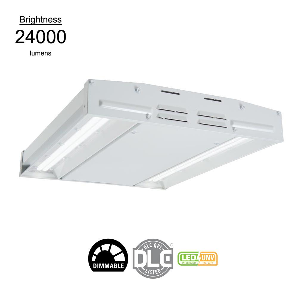 Metalux 146-Watt White Integrated LED Compact High Bay