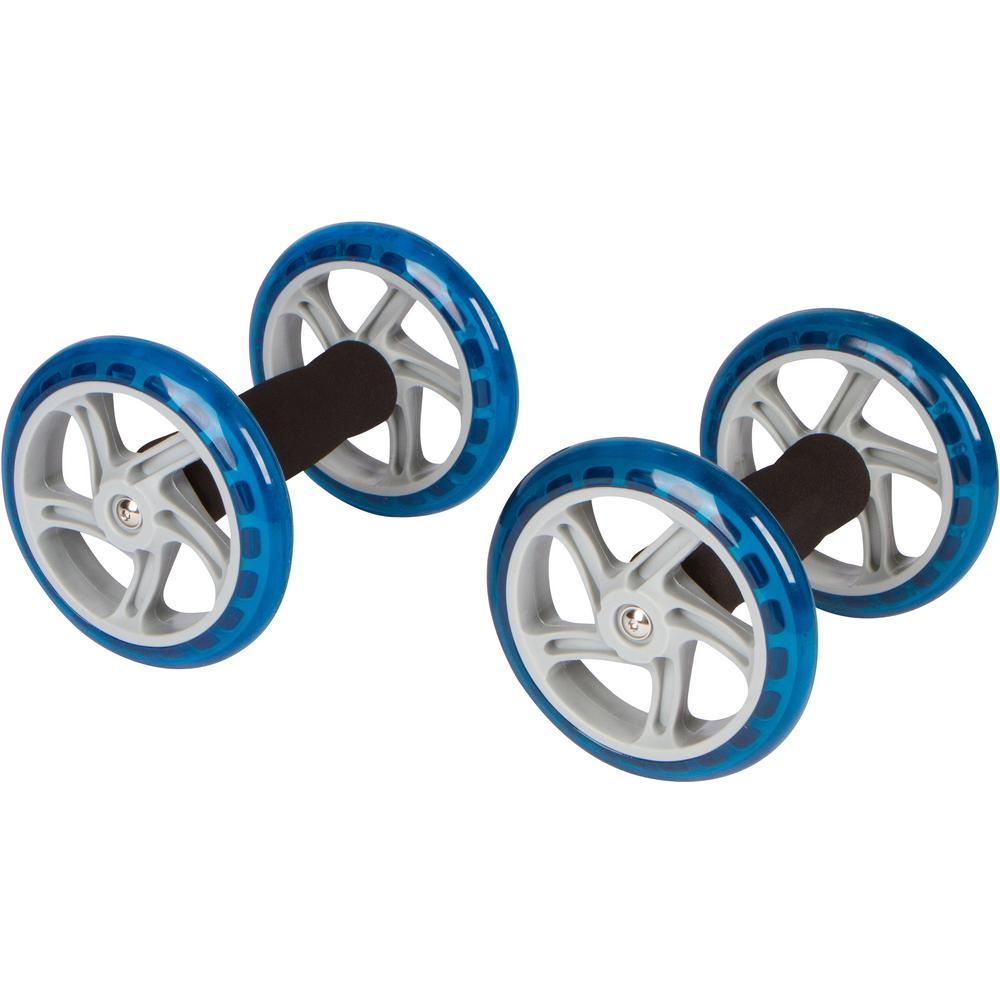 Trademark Innovations 6 in. Dia Core Abdominal Exercise Roller Wheels (1-Pair)