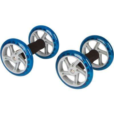 6 in. Dia Core Abdominal Exercise Roller Wheels (1-Pair)