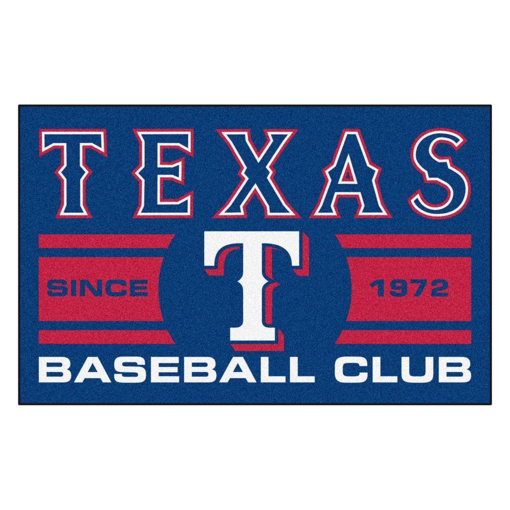 MLB Texas Rangers Blue 2 ft. x 3 ft. Area Rug