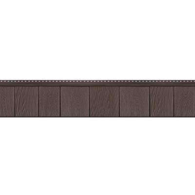8-1/2 in. x 60-3/4 in. Vintage Brown Engineered Rigid PVC Shingle Panel 7.5 in. Exposure (32 per Box)