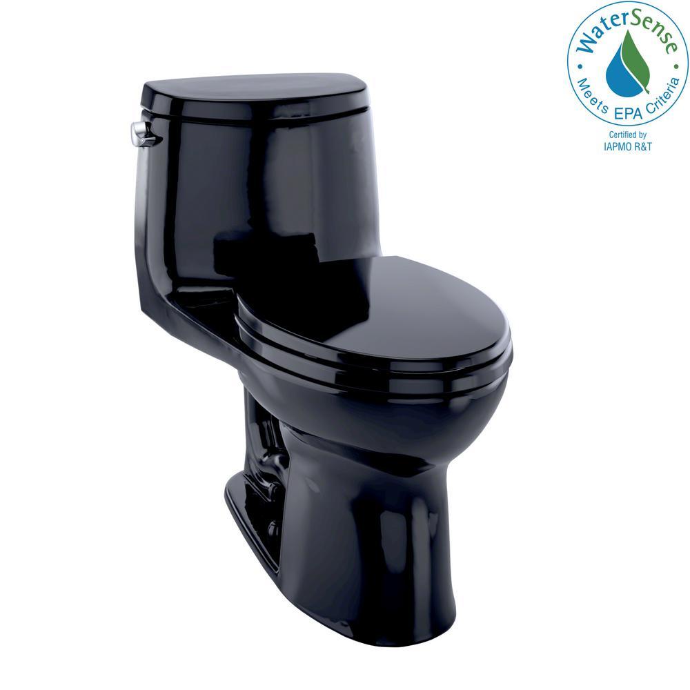 TOTO UltraMax II 1-Piece 1.28 GPF Single Flush Elongated Toilet in ...