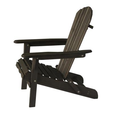 Classic Dark Brown Folding Wood Oceanic Adirondack Chair