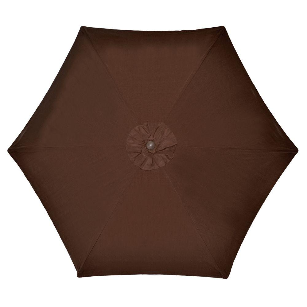 Wood Patio Umbrella In Brown