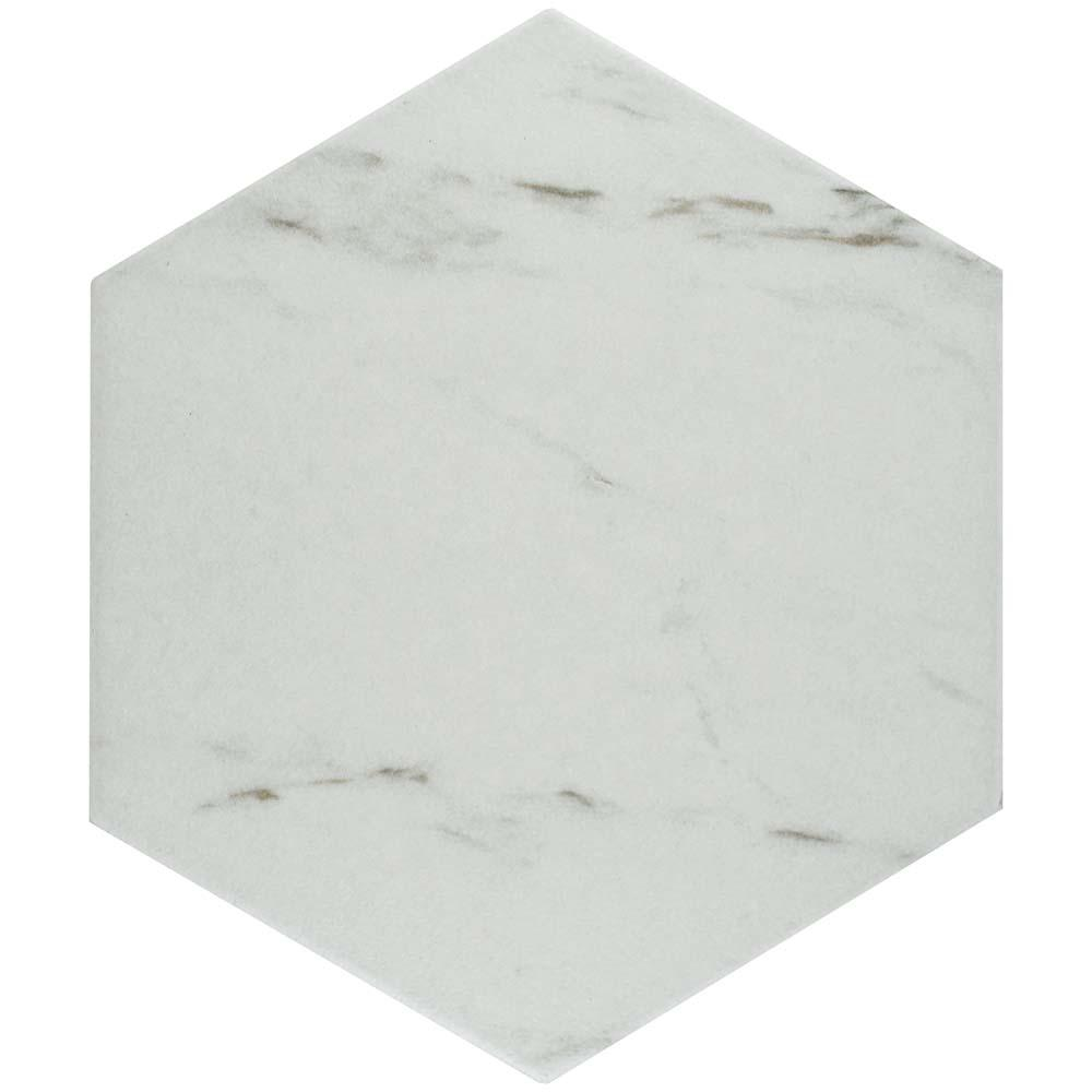 Merola Tile Eterno Carrara Hex 8-5/8 in. x 9-7/8 in. Porcelain Floor and Wall Tile (11.19 sq. ft. / case)