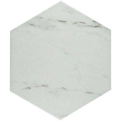 Eterno Carrara Hex 8-5/8 in. x 9-7/8 in. Porcelain Floor and Wall Tile (11.19 sq. ft. / case)