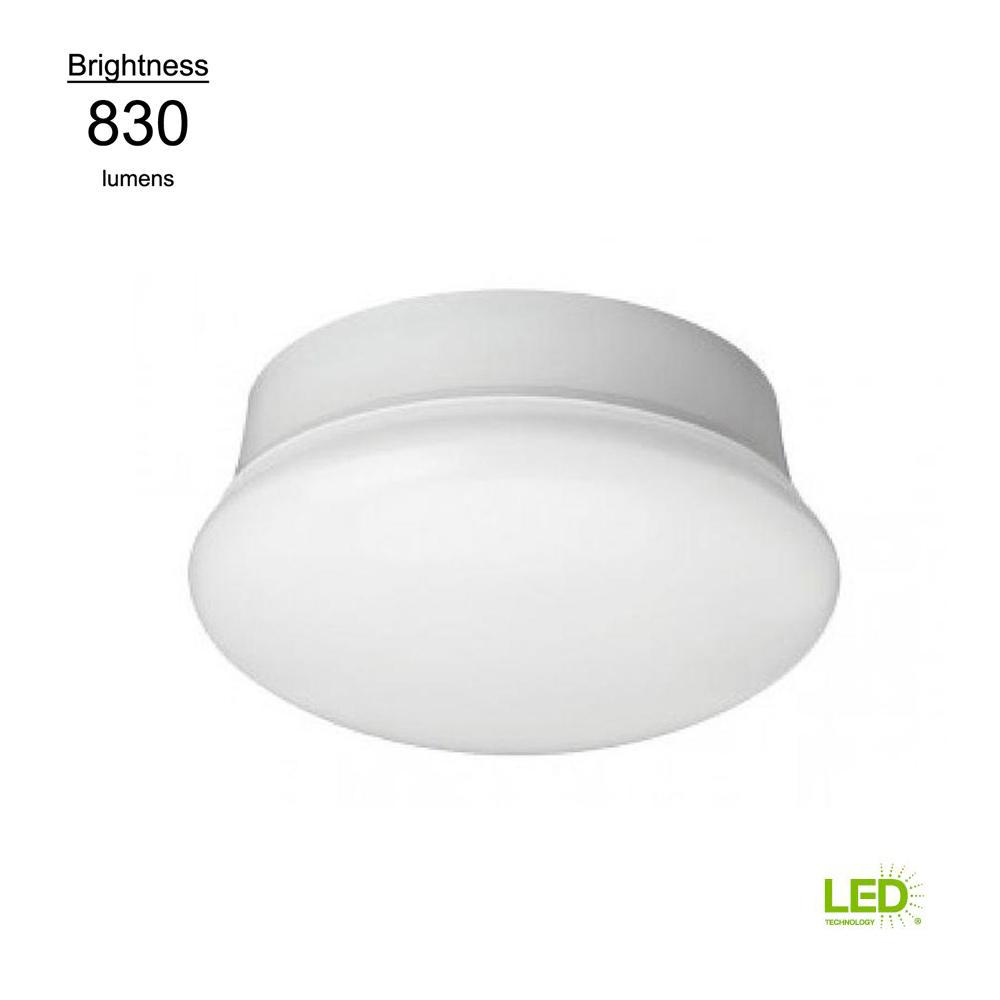 Commercial Electric Lightbulb Replacement Fixture 7 in. Round White ...