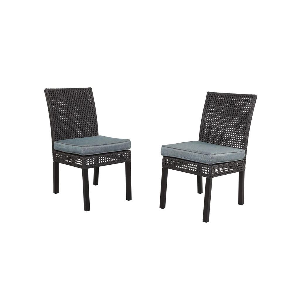 Hampton Bay Fenton Patio Dining Chair With Peacock And