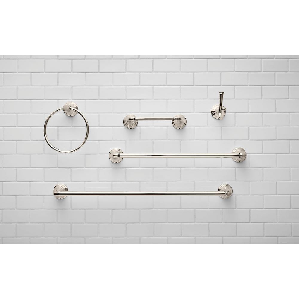 American Standard 7052230.013 Delancey Pivoting Toilet Paper Holder Polished Nickel