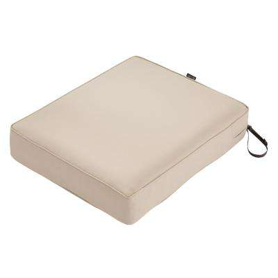 Montlake Antique Beige 25 in. W x 27 in. D x 5 in. T Outdoor Lounge Chair Cushion