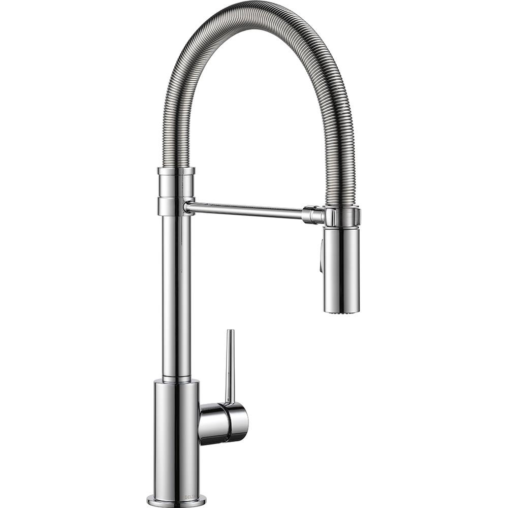 Trinsic Single-Handle Pull-Down Sprayer Kitchen Faucet with Spring Spout in