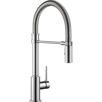 Trinsic Pro Single-Handle Pull-Down Sprayer Kitchen Faucet with Spring Spout in Chrome