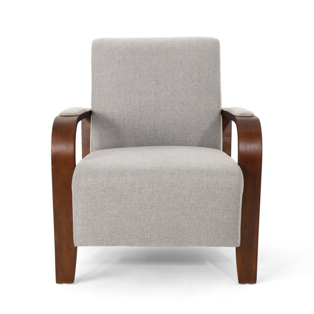 Loukas Traditional Beige Fabric Club Chair