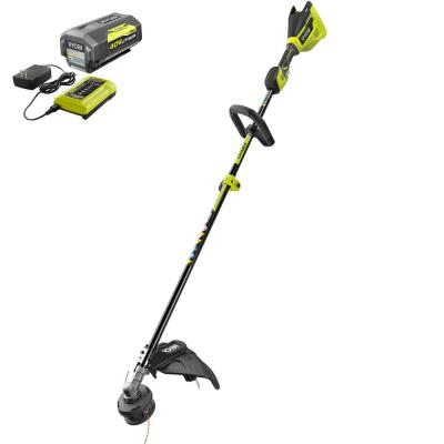 40-Volt Lithium-Ion Brushless Electric Cordless Attachment Capable String Trimmer 4.0 Ah Battery and Charger Included